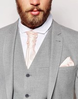 Asos Wedding Cravat And Pocket Square Pack In Pink