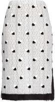 Marco De Vincenzo Bi-colour lace pencil skirt