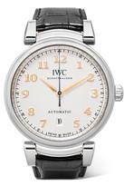 IWC SCHAFFHAUSEN Da Vinci Automatic 40 Alligator And Stainless Steel Watch - Silver