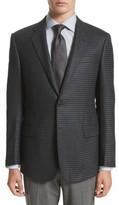 Armani Collezioni Men's G-Line Trim Fit Houndstooth Wool & Cashmere Sport Coat
