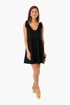 Do & Be Black Knot Tie Sleeveless Dress