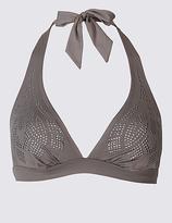 M&S Collection Studded Triangle Bikini Top