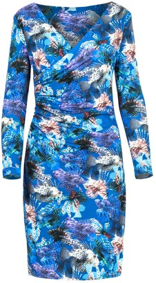 Cosel Printed Lycra Dress Blue Fish