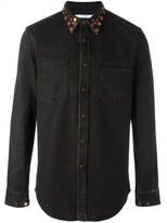 Givenchy studded collar denim shirt