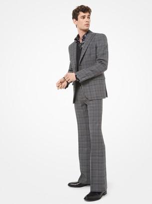 Michael Kors Glen Plaid Wool Blazer