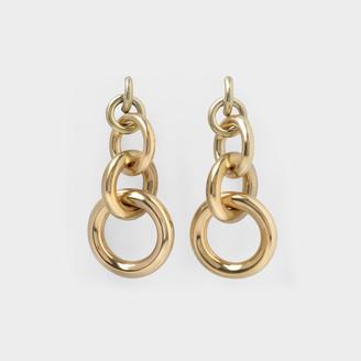 Laura Lombardi Isa Earrings In Brass