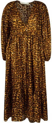 Zimmermann Leopard Print Long Dress