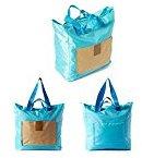Foldable Fashion Shoulder Travel Bag Storage Suitcase Luggage Clothes Organizer Pouch Doubtless Bay (sky blue)