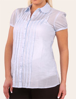 Short Sleeve Button Front Maternity Shirt