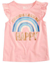 Epic Threads Happy Rainbow T-Shirt, Little Girls, Created for Macy's