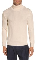 Eleventy Men's Ribbed Turtleneck Wool Sweater