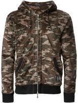 GUILD PRIME camouflage print hooded jacket - men - Polyester - 1