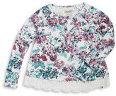 Lucky Brand Girls 7-16 Crocheted Floral Top