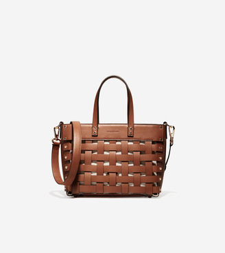 Cole Haan Leather Basket Tote Bag