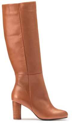 La Redoute Collections Leather Knee-High Boots with High Heel