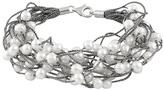 Bella Pearl White Pearl & Sterling Silver Multistrand Bracelet