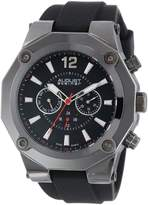 August Steiner Men's AS8080BK Swiss Multi-Function Silicone Strap Watch