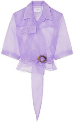 Nanushka Wrap-effect Organza Shirt