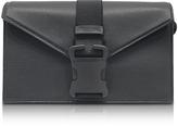 Christopher Kane Pitch Black Grained Leather Devine Og Bag