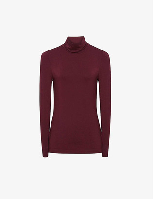 Reiss Charlie jersey roll-neck top