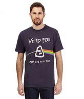 Weird Fish Navy 'carp Side Of The Moon' T-shirt