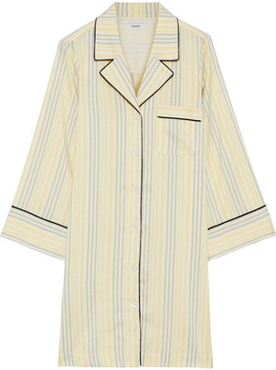 Ganni Bergamot Striped Silk Tunic