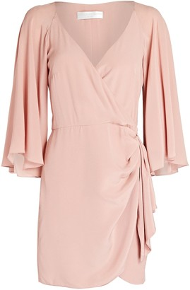 Caroline Constas Crepe De Chine Wrap Dress