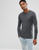 Asos Crew Neck Sweater in Muscle Fit