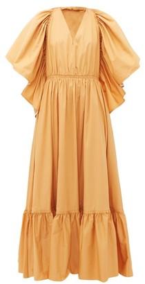 Roksanda Constance Halterneck Cotton-poplin Maxi Dress - Beige