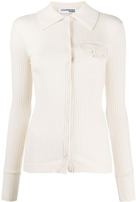 Courreges Button-Through Ribbed Shirt