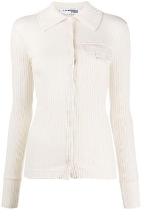 Courreges Button-Through Ribbed Shirt