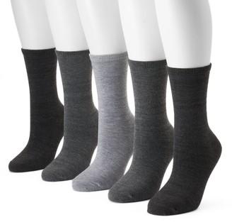 Sonoma Goods For Life Women's 5-pk. Solid Crew Socks