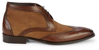 Mezlan 19322 Leather Suede Wingtip Ankle Derby Shoes