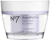 No7 Beautiful Skin Night Cream Dry/Very Dry 1.6 oz