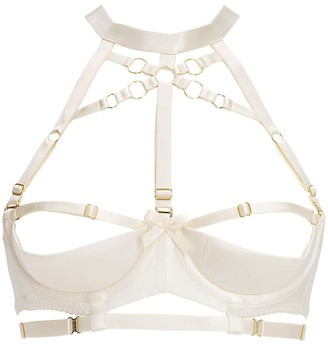 Bordelle Bondage Elastic Satin Shelf Bra