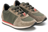 Burberry lace-up paneled sneakers - kids - Leather/Suede/Polyester/Foam Rubber - 23