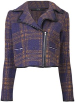 Cut 25 Plaid zip jacket