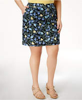 Karen Scott Plus Size Floral-Print Skort, Created for Macy's