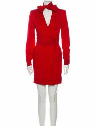 Saint Laurent 2020 Mini Dress Red