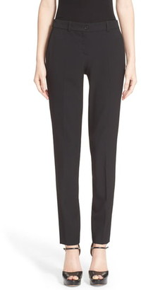 Michael Kors Samantha Stretch Wool Straight Leg Pants