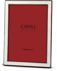 """Cunill America Contemporary Plain Sterling Silver Picture Frame - 8"""" x 10"""""""