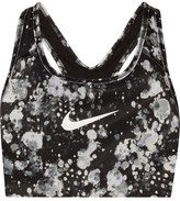 Nike Pro Classic Printed Dri-fit Stretch Sports Bra - Black