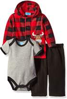 Bon Bebe Boys' 3 Piece Microfleece Jacket Set with Bodysuit and Pant