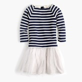 J.Crew Girls' tulle sweatshirt dress in stripe