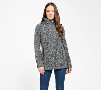 Mia Melon Fleece-Lined Waterproof Sweater KnitJacket - Taylor