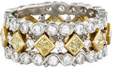 Ring Yellow & White Diamond Eternity Band