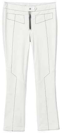 MANGO Contrast seam leather trousers