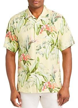 Tommy Bahama Garden Of Hope And Courage Regular Fit Short-Sleeve Silk Shirt