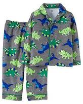 Just One You®; made by Carter's Toddler Boys' Long-Sleeve Fleece Coat Pajama Set Grey Dinosaur - Just One You...