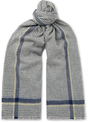 Begg & Co Jura Houndstooth Wool-Blend Scarf